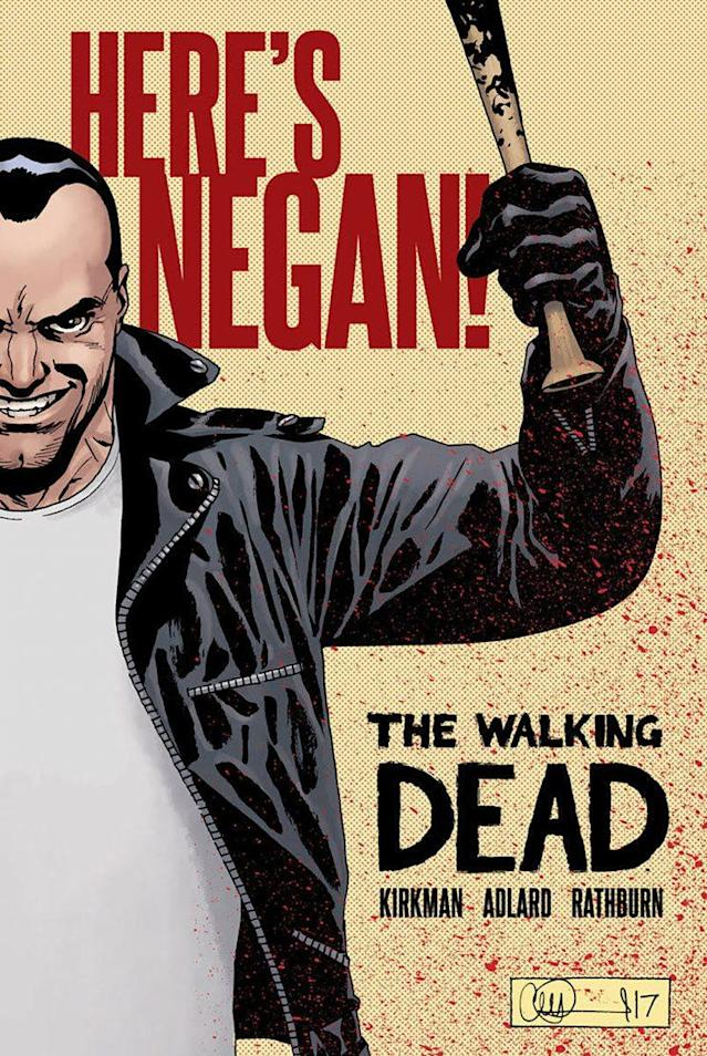 The Walking Dead: Here's Negan hardcover. (Credit: Image Comics)