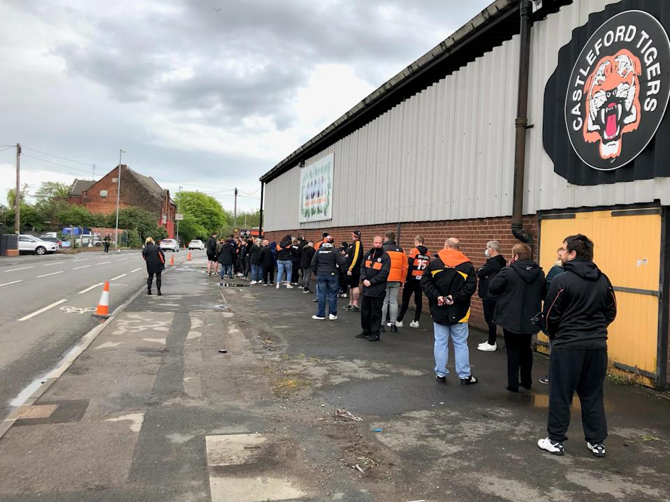 Castleford Tigers fans were welcomed back to The Jungle (Mark Staniforth/PA)
