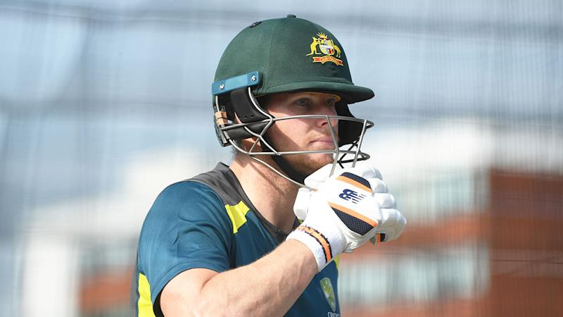 Steve Smith is seen here during a training session for the Aussie limited overs side.