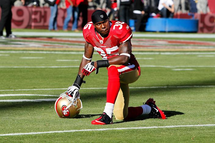 San Francisco 49ers cornerback Phillip Adams #35 during the game between the New Orleans Saints and the San Francisco 49ers in San Francisco on Sept. 20, 2010. (Icon Sportswire via Getty Images file)