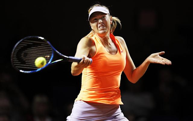 <span>Sharapova was playing her first tournament after a 15-moth ban</span> <span>Credit: Getty Images </span>