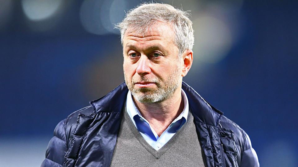 Pictured here, Chelsea owner Roman Abramovich attends a Blues match.