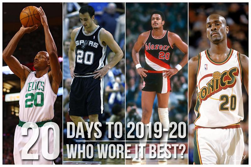Which NBA player wore No. 20 best?