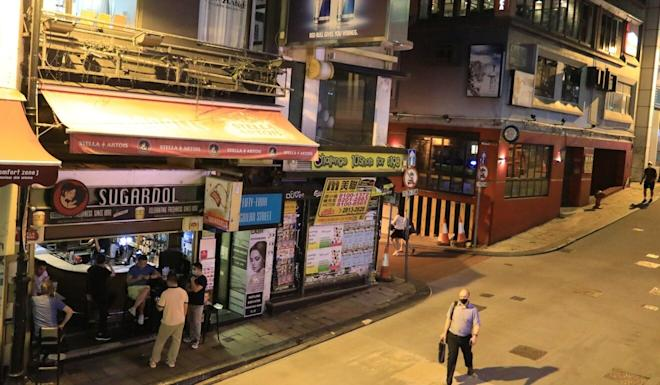 Social-distancing measures amid Hong Kong's third wave of Covid-19 infections have seen popular nightlife areas go quiet. Photo: May Tse