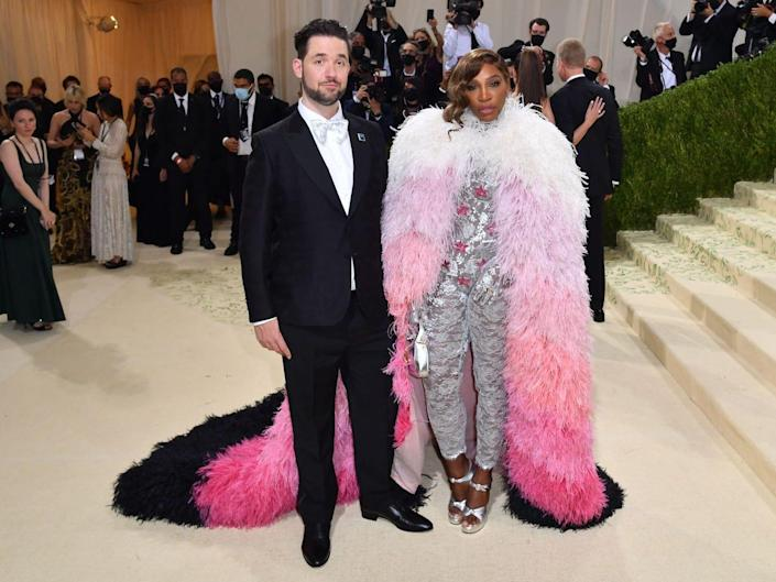 Alexis Ohanian and Serena Williams at the 2021 Met Gala.