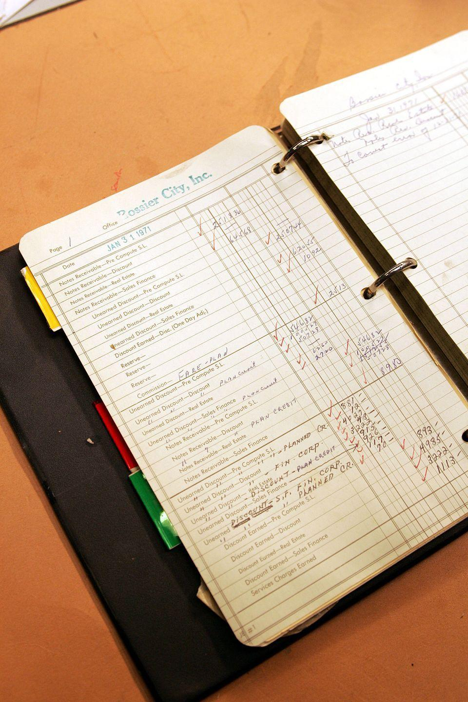 <p>Attention to detail was everything on the Sopranos set, even down to the smallest props. Here's the accounting book used in the Bada Bing!</p>
