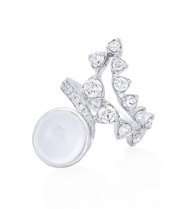 """<p><a class=""""link rapid-noclick-resp"""" href=""""https://www.boodles.com/snowdonia-moonstone-diamond-white-gold-ring/"""" rel=""""nofollow noopener"""" target=""""_blank"""" data-ylk=""""slk:SHOP NOW"""">SHOP NOW</a></p><p>A mesmermising 5.40 carat blue moonstone and swirls of white diamonds evoke the crystalline waters and white capped peak of Snowdonia. </p><p>Moonstone, diamond and white gold ring, price on request, Boodles</p>"""