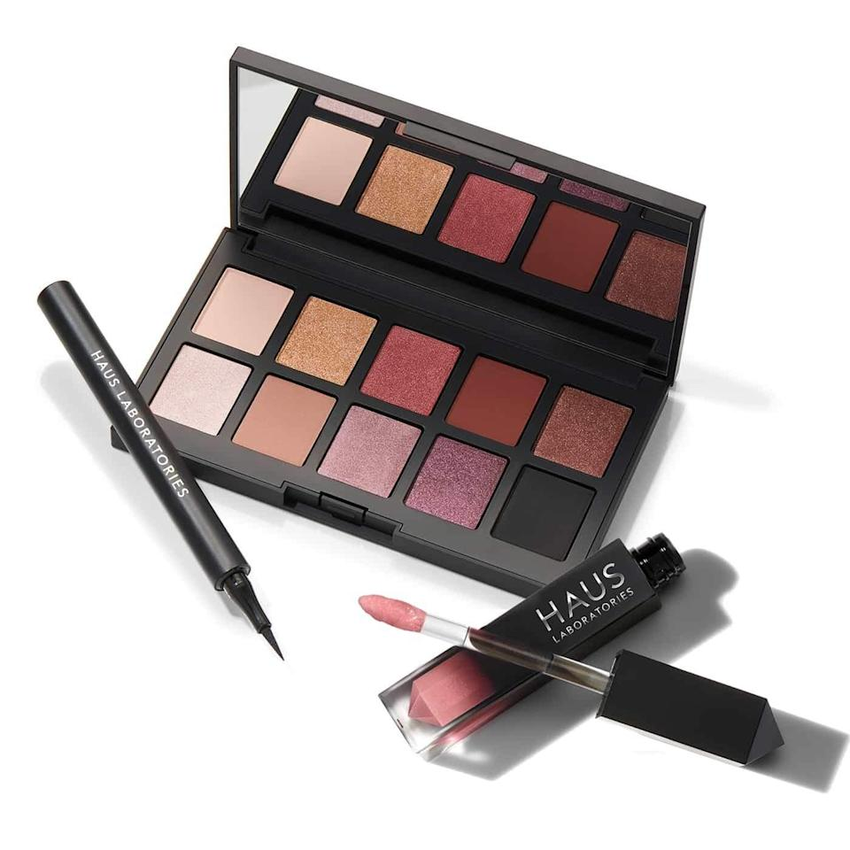 """<p>Get the festivities started for one of your makeup-obsessed friends with this limited-edition Haus Laboratories Haus Party Set. It comes with everything they need to create a show-stopping look: the Liquid Eye-lie-ner in Punk, Le Riot Lip Gloss in Venus, and Glam Room Palette in No. 1 Fame (which is perfect for <a href=""""https://www.allure.com/story/face-mask-makeup-ideas?mbid=synd_yahoo_rss"""" rel=""""nofollow noopener"""" target=""""_blank"""" data-ylk=""""slk:above-the-mask makeup"""" class=""""link rapid-noclick-resp"""">above-the-mask makeup</a>). Who cares if there aren't any parties to physically attend? Gaga glam is an <em>attitude.</em></p> <p><strong>$43</strong> (<a href=""""https://www.amazon.com/HAUS-LABORATORIES-Lady-Gaga-Eyeshadow/dp/B089PBMJBY"""" rel=""""nofollow noopener"""" target=""""_blank"""" data-ylk=""""slk:Shop Now"""" class=""""link rapid-noclick-resp"""">Shop Now</a>)</p>"""