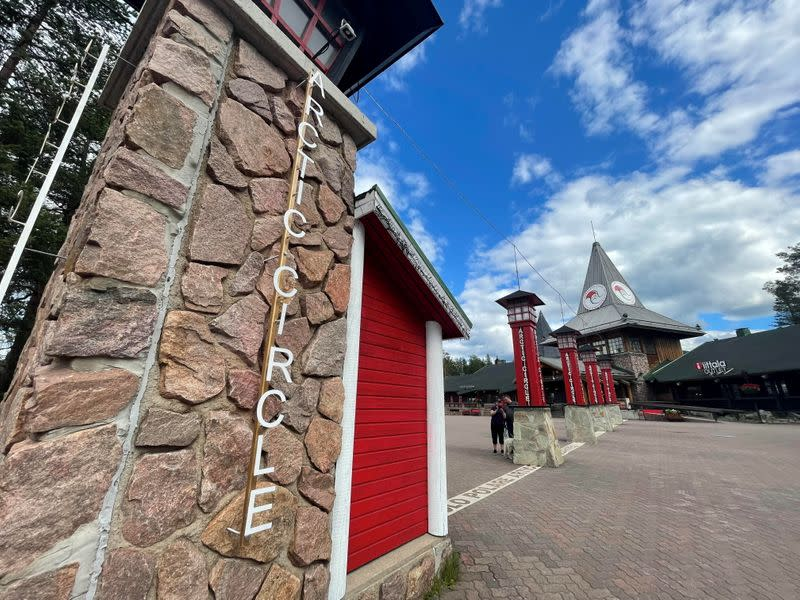A general view shows the main square of the Santa Claus Village in the Arctic Circle near Rovaniemi