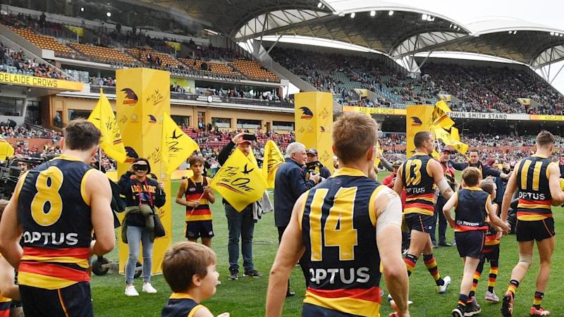 A crowd of 2000 is allowed to attend the AFL's Showdown at Adelaide Oval on Saturday