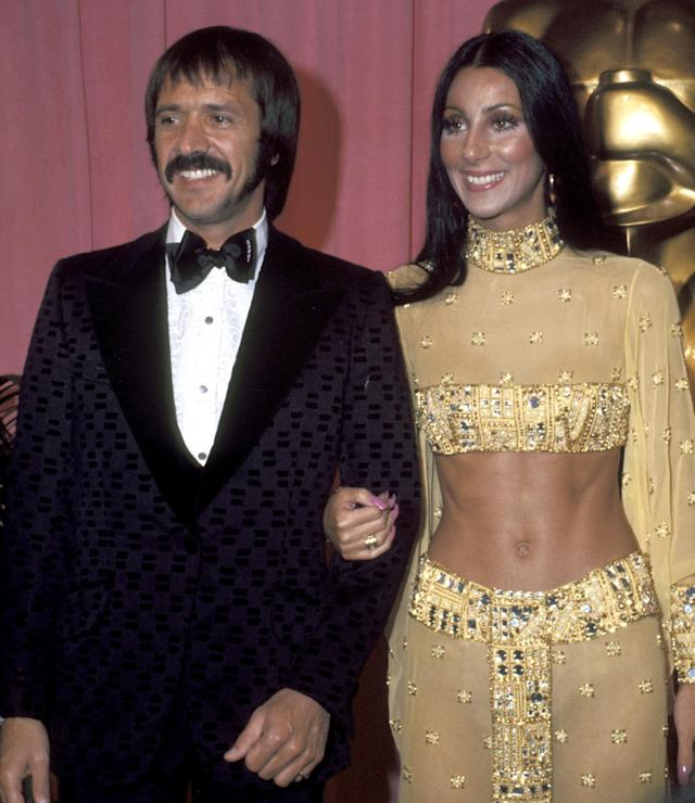 Sonny and Cher at Academy Awards in 1973.