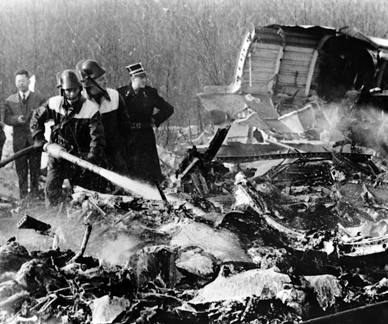 View of the scene of the plane crash of the Sabena Flight 548, on February 15, 1961 near Brussels.