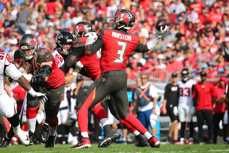 Could this be Jameis Winston's final game in a Tampa Bay uniform? (Photo by Cliff Welch/Icon Sportswire via Getty Images)
