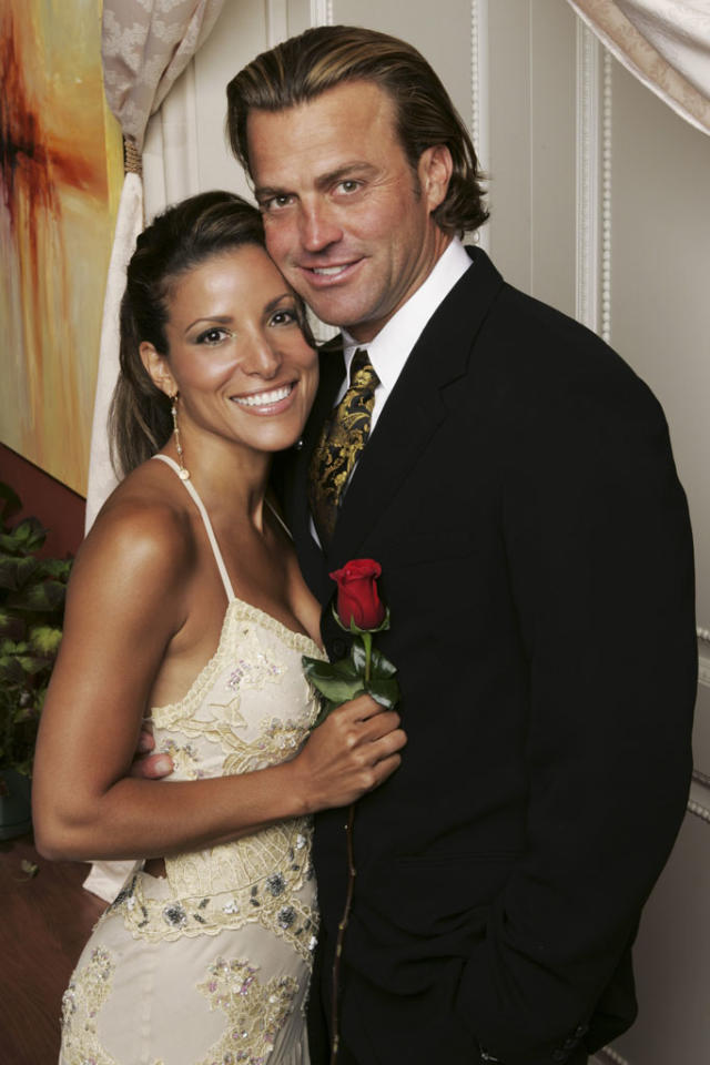 "<b>Season 6</b><b>,</b><b> ""The Bachelor""</b><b><br>Byron Velvick and Mary Delgado</b> <br><br>BROKE UP, but after several years together. They were engaged in November 2004 and endured some domestic issues. They didn't officially end their union until December 2009."