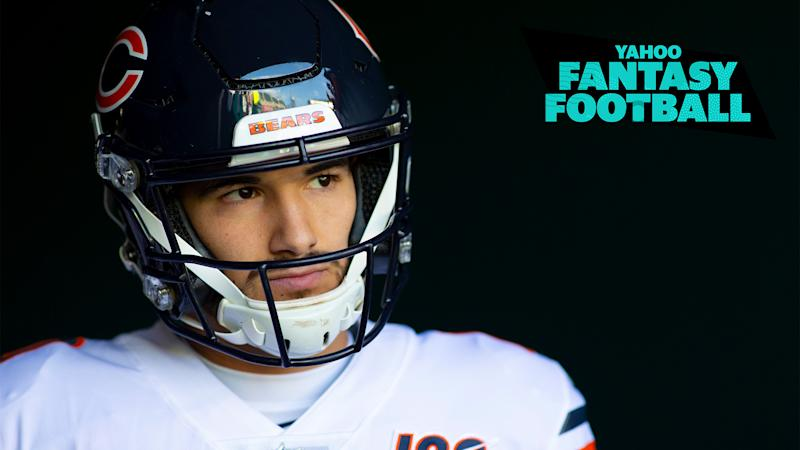Liz Loza & Matt Harmon debate whether it's time for the Chicago Bears to bench Mitchell Trubisky on the latest Yahoo Fantasy Football Podcast.(Photo by Mitchell Leff/Getty Images)