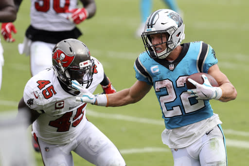 Panthers put McCaffrey on injured reserve with ankle injury