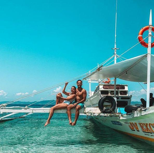 Davina and Jaxon enjoyed a trip to the Philippines last month, despite her severe morning sickness.