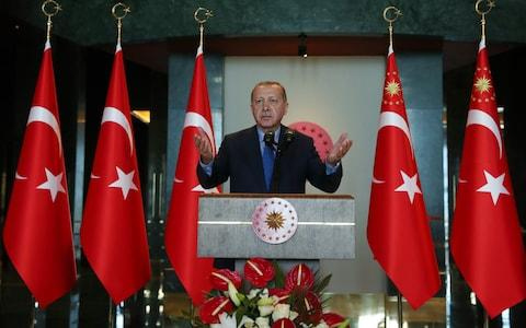 Recep Tayyip Erdogan has been trying to stave off an attack on Idlib - Credit: Photo by Kayhan Ozer/Anadolu Agency/Getty Images