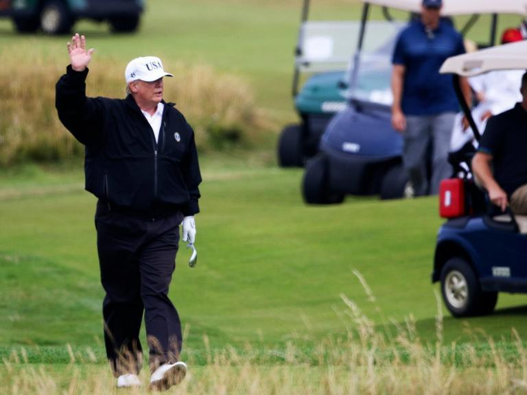 Trump uses Secret Service agents to help him cheat at golf, book claims