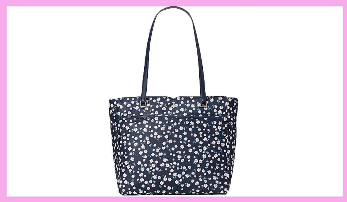 At the beach, the cafe or the office, this floral tote is a compliment magnet. (Photo: Kate Spade)