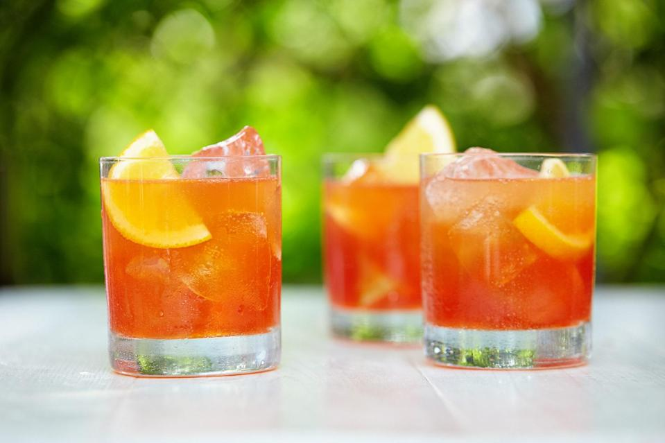 """Bitter lemon soda and Angostura bitters cut through the sweetness of this low(ish)-ABV cocktail. <a href=""""https://www.epicurious.com/recipes/food/views/wild-heart-cocktail-56389840?mbid=synd_yahoo_rss"""" rel=""""nofollow noopener"""" target=""""_blank"""" data-ylk=""""slk:See recipe."""" class=""""link rapid-noclick-resp"""">See recipe.</a>"""