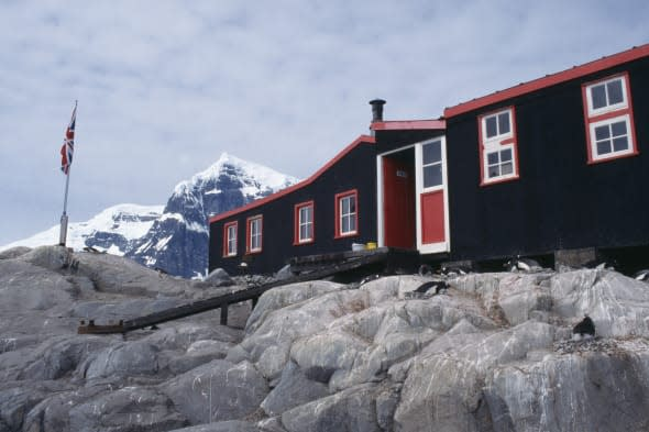 ANTARCTICA Peninsula Region Port Lockroy formally a British Base A between 1944 to 1962 re opened in the 1990 s as a museum and