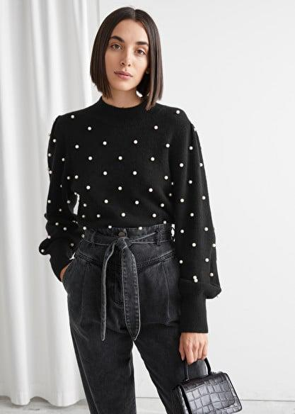 <p><span>&amp; Other Stories Pearl Dot Puff Sleeve Sweater</span> ($53, originally $89)</p>