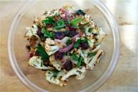 """<div class=""""caption-credit""""> Photo by: Brooklyn Supper</div><b>Roasted Cauliflower Salad With Dried Cherries <br></b> I love roasted veggie salads and this one is particularly delicious with caramelized cauliflower and tangy dried cherries. The pine nuts lend a nutty texture and taste that provides a nice contrast to the cauliflower. While this dish is certainly easy enough for casual family suppers its eye-catching colors and subtle tastes would also make it a fantastic, healthy side dish for holidays and dinner parties. <br> <a href=""""http://www.babble.com/best-recipes/healthy-holiday-15-eye-catching-salad-recipes/#roasted-cauliflower-salad-with-dried-cherries"""" rel=""""nofollow noopener"""" target=""""_blank"""" data-ylk=""""slk:Get the recipe"""" class=""""link rapid-noclick-resp""""><i>Get the recipe</i></a> <br>"""