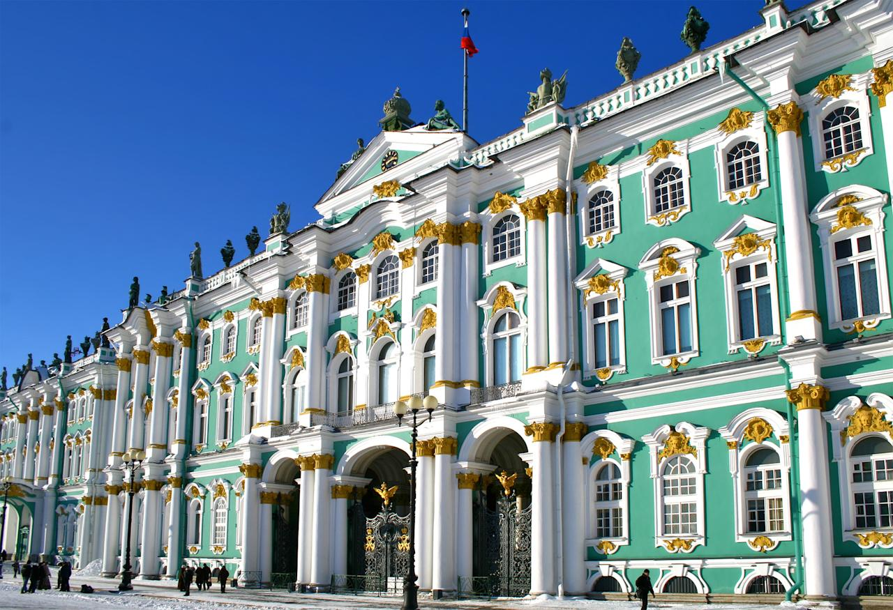 The State Hermitage Museum holds more than three million pieces of art including oriental pieces as well as western European works. Visitors also have an opportunity to see Russian artworks.