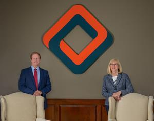 James C. Hagan, President and CEO of Western New England Bancorp, along with Lisa G. McMahon, Chairperson of the Western New England Bancorp Board of Directors.