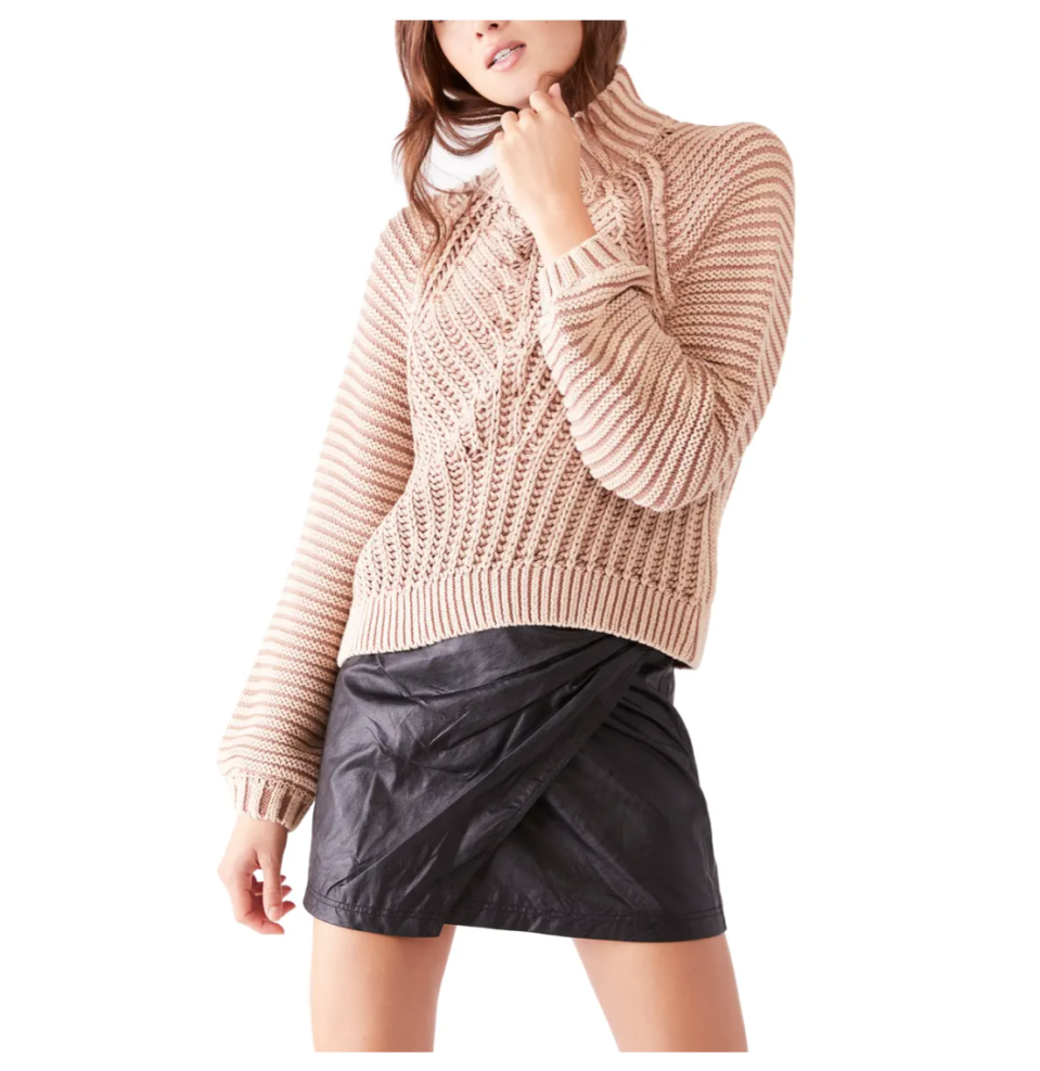 Free People Sweetheart Mock Neck Sweater. Image via Nordstrom.