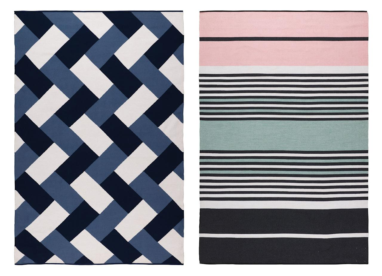 """<a rel=""""nofollow"""" href=""""https://www.therugcompany.com/us-en/"""">The Rug Company</a> has partnered with <a rel=""""nofollow"""" href=""""https://www.perennialsfabrics.com/"""">Perennials</a> to create a new line of performance rugs aptly named the Endurance Collection. Using Perennials' soft but durable yarn, these rugs can be used indoors as well as out."""