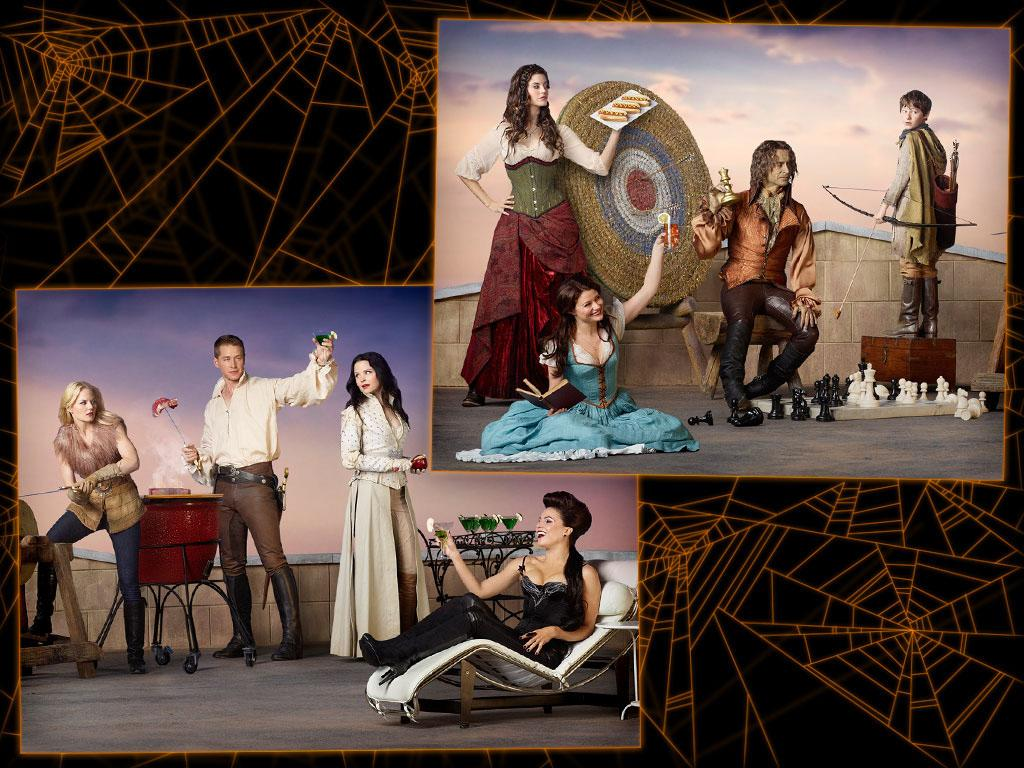 """<b>The cast of """"Once Upon a Time"""" as their fairytale alter egos</b><br><b>Level of difficulty:</b> Difficult<br><br>Unless you and your friends have a bunch of fairytale-themed costumes laying around, this one might be tough to pull off -- even with some DIY skills. But if you're up for the challenge, you'll need the following costumes: Red Riding Hood (wearing a red dress with a hood should do the trick -- wolf optional), Belle (don a blue peasant dress or a yellow ballgown), Rumplestiltskin (here the clothes doesn't matter as much as the glittery gold skin), Prince Charming (look heroic in a puffy white, black boots, and don't forget the sword!), Snow White (black hair and red lips are musts, but """"OUAT's"""" Snow has worn all kinds of dresses), and the Evil Queen (wear a long slinky black or red or purple dress and perfect the witch cackle)."""