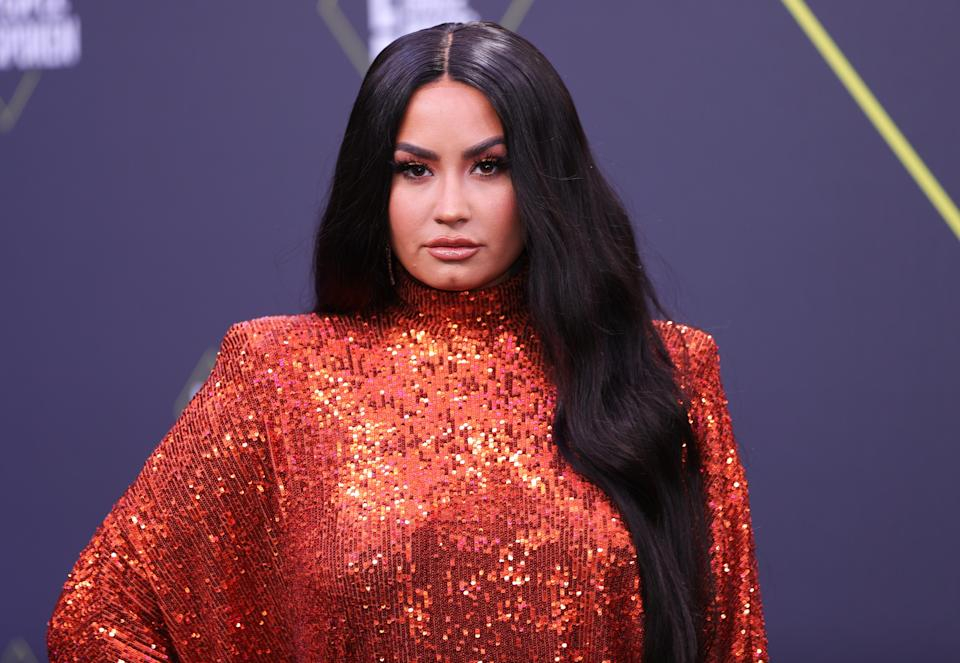 Demi Lovato was on hosting duties for the 2020 E! People's Choice Awards (Rich Polk/E! Entertainment/NBCU Photo Bank via Getty Images)