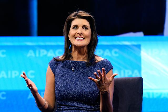 Nikki Haley defended Trump on impeachment and immigration in a CBS interview. (Photo: Michael Brochstein/SOPA Images/LightRocket via Getty Images)