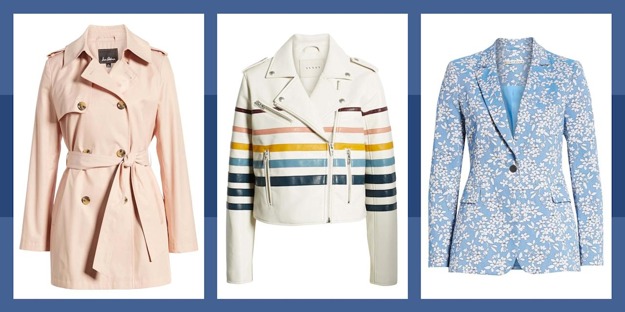 <p>Our clocks may have sprung forward, but the weather still isn't quite ready to let us pack away our outerwear. To help your wardrobe cope with those chilly mornings that turn into sunny days, unexpected rain showers, and cool spring breezes, it's time to invest in a stylish and seasonal spring jacket. Below are a few of our favorites to keep you looking and feeling great all season long. </p>