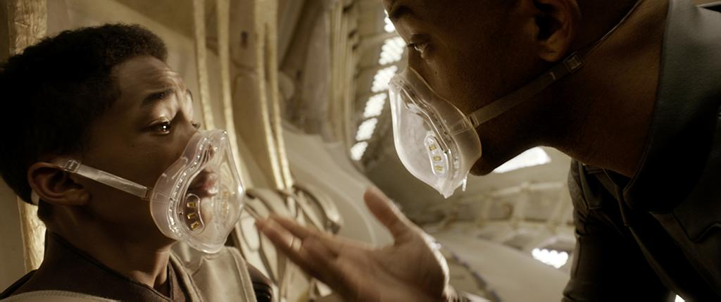 """Jaden Smith and Will Smith in Columbia Pictures' """"After Earth"""" - 2013"""