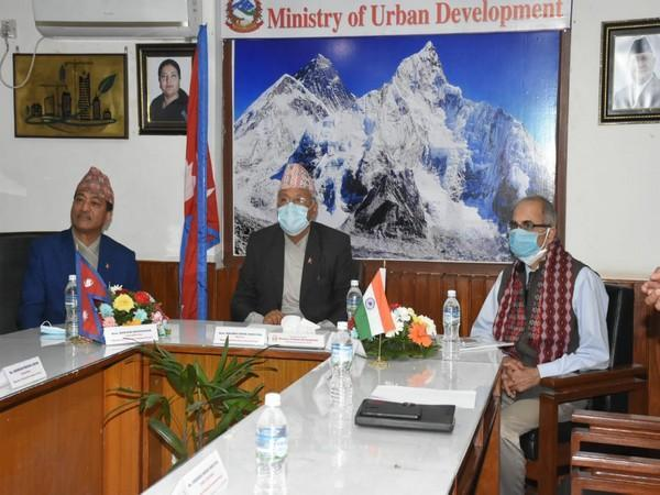 Nepal's Minister for Urban Development during a tele-conference on Thursday.
