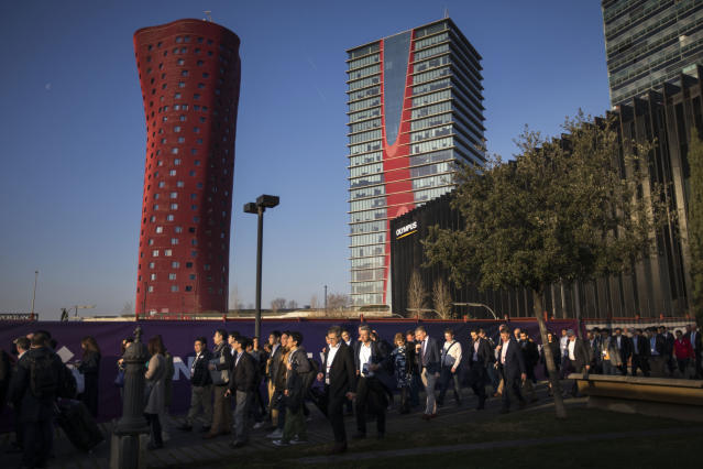 El Mobile World Congress siempre es un evento multitudinario (AP Photo/Emilio Morenatti)