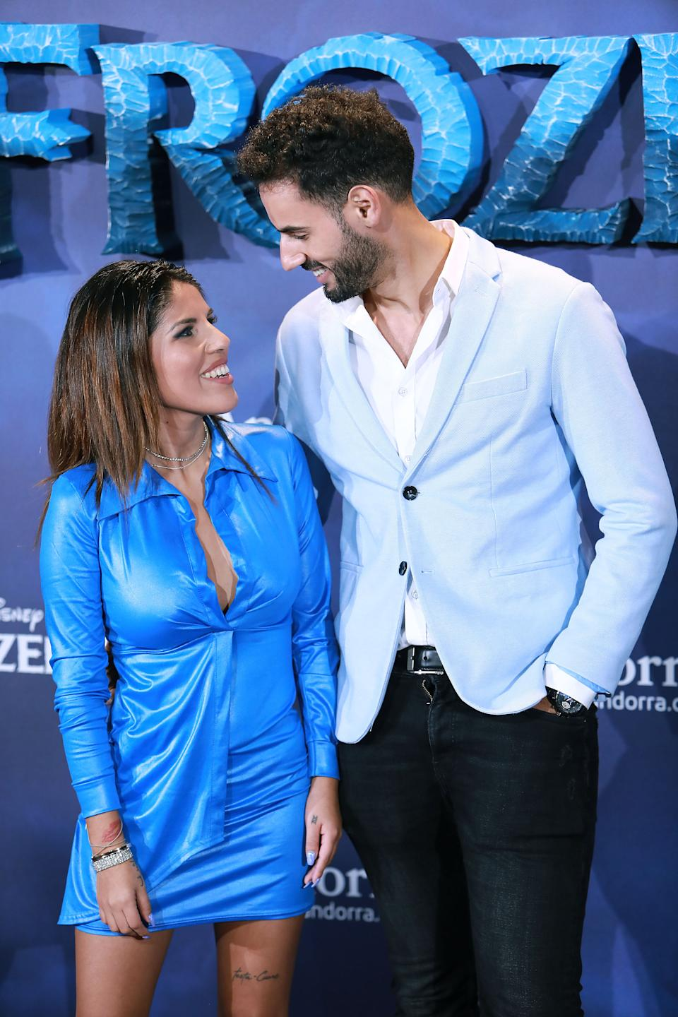 MADRID, SPAIN - NOVEMBER 19: Asraf Beno and Isa Pantoja attend 'Frozen II' premiere at Callao Cinema on November 19, 2019 in Madrid, Spain. (Photo by Europa Press Entertainment/Europa Press via Getty Images)