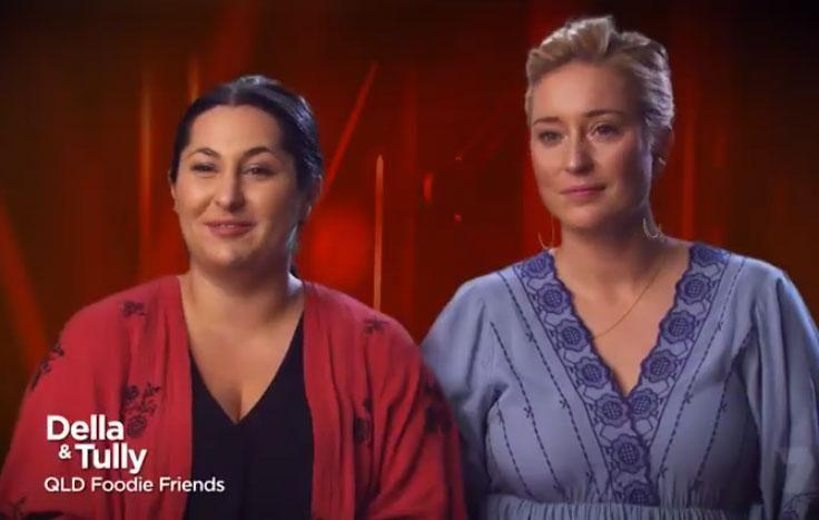 Contestants Della and Tully cooked on the night, getting a grand total score of 58. Source: Channel Seven