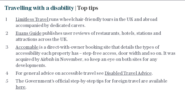Travelling with a disability | Top tips