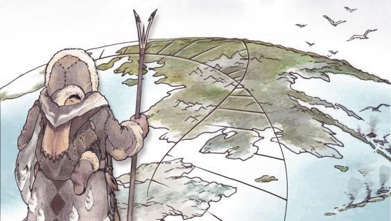 Descendants of the Ancient Paleo-Siberians migrated into the Americas between 6,000 and 10,000 years ago (Illustration by Kerttu Majander, Design by Michelle O'Reilly)
