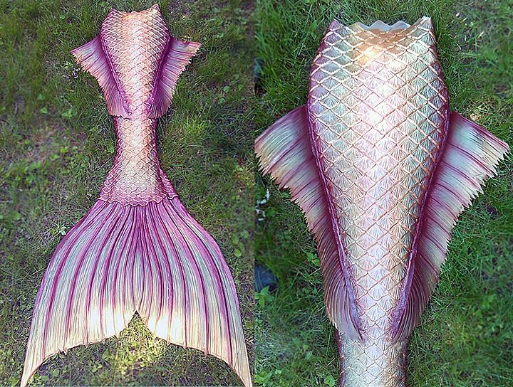 Mermaid tails can cost several thousands of dollars depending on craftsmanship and material used. (Photo: Abby Roberts, Finfolk Productions)