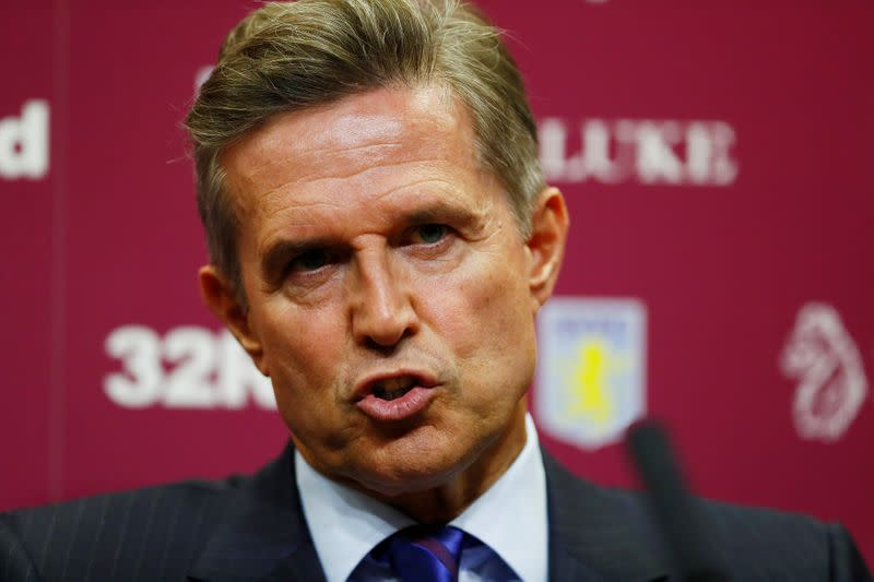 Villa CEO Purslow critical of reduced fan limit for test events