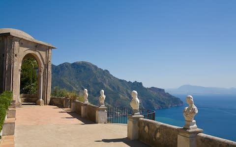 Villa Cimbrone, Amalfi Coast - Credit: P A Thompson
