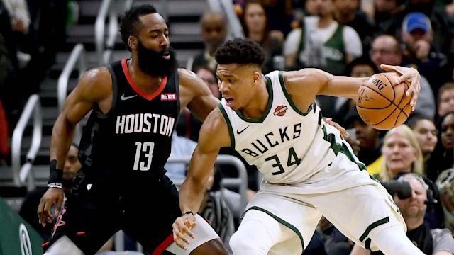 Milwaukee Bucks forward Giannis Antetokounmpo and Houston Rockets guard James Harden both made the All-NBA First Team on Thursday.