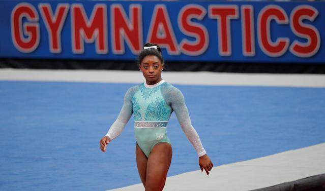 "<a class=""link rapid-noclick-resp"" href=""/olympics/rio-2016/a/1112764/"" data-ylk=""slk:Simone Biles"">Simone Biles</a> continues to speak out against USA Gymnastics in the wake of the Larry Nassar scandal. (REUTERS/Brian Snyder)"
