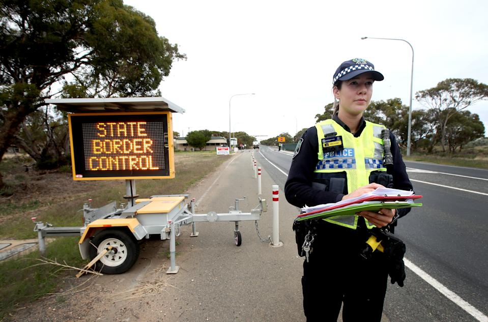 South Australia has closed it borders and people must go into 14 day isolation due to the COVID-19 virus. Source: AAP
