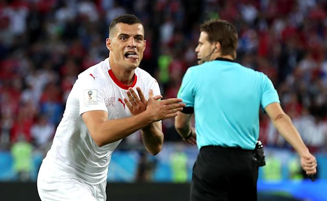 Granit Xhaka and others have made political statements at this World Cup. (Getty)